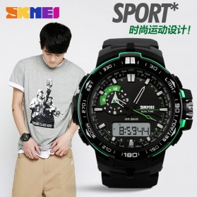 SKMEI Jam Tangan Sport Pria - AD1081 - Black/Green - 7