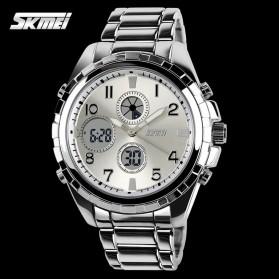 SKMEI Jam Tangan Analog Digital Pria - AD1021 - Silver - 3