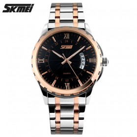 SKMEI Jam Tangan Analog Pria - 9069CS - Black Gold