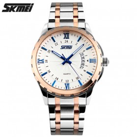 SKMEI Jam Tangan Analog Pria - 9069CS - Golden/Blue