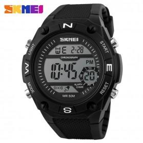 SKMEI S-Shock Sport Watch Water Resistant 50m - DG1093 - Black White
