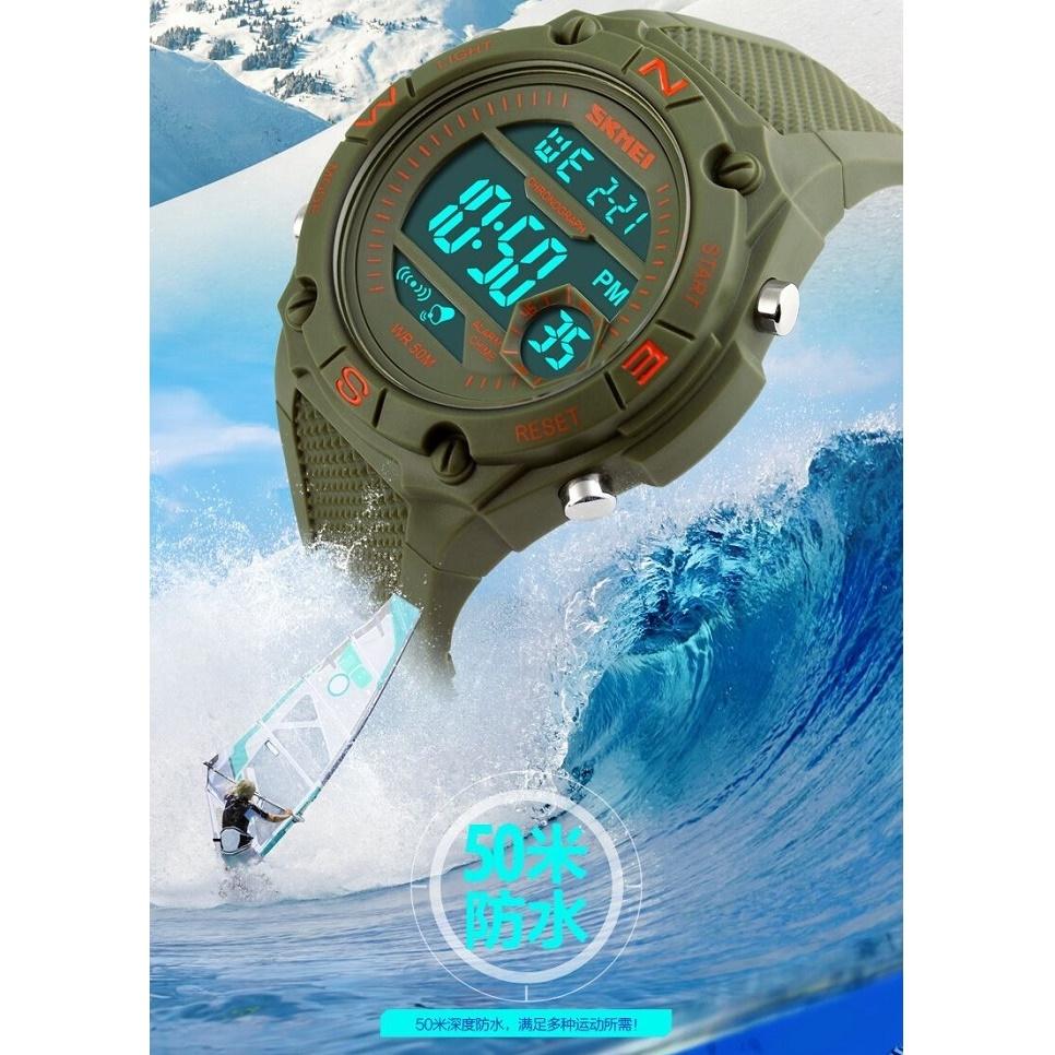 Skmei Jam Tangan Digital Pria Dg1093 Army Green S Shock Sport Watch Water Resistant 50m Dg1025 10