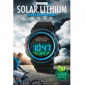 SKMEI Jam Tangan Tenaga Solar Pria - DG1096 - Black/Blue - 6
