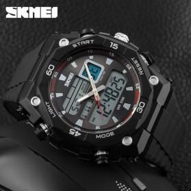 SKMEI Jam Tangan Sporty Digital Analog Pria - AD1092 - Black with White Side - 3