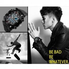 SKMEI Jam Tangan Sporty Digital Analog Pria - AD1092 - Black with White Side - 5