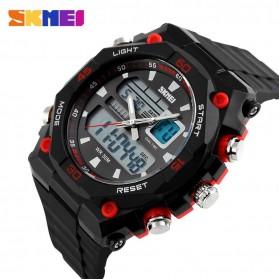 SKMEI Jam Tangan Sporty Digital Analog Pria - AD1092 - Black/Red - 2