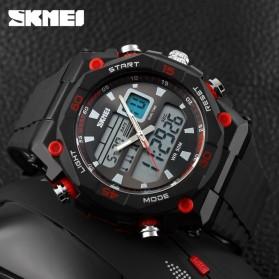 SKMEI Jam Tangan Sporty Digital Analog Pria - AD1092 - Black/Red - 3