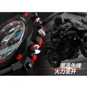 SKMEI Jam Tangan Sporty Digital Analog Pria - AD1092 - Black/Red - 9