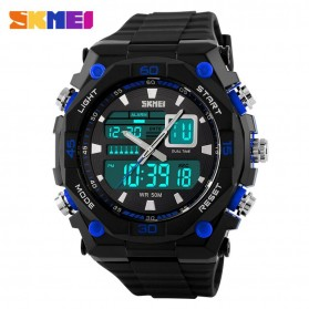 SKMEI Jam Tangan Sporty Digital Analog Pria - AD1092 - Black/Blue
