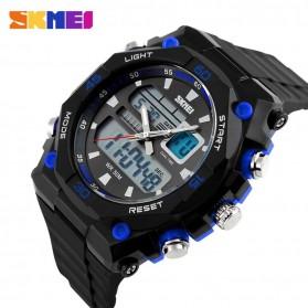 SKMEI Jam Tangan Sporty Digital Analog Pria - AD1092 - Black/Blue - 2
