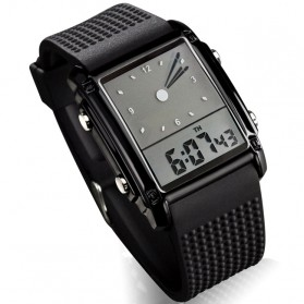 SKMEI Jam Tangan Trendy Digital Analog Pria - 0814G - Black/Silver