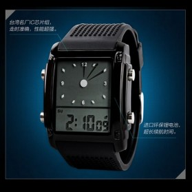 SKMEI Jam Tangan Trendy Digital Analog Pria - 0814G - Black/Silver - 2