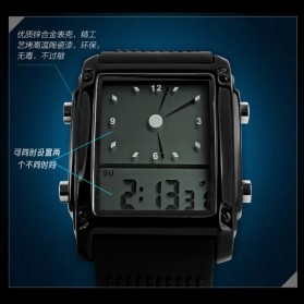 SKMEI Jam Tangan Trendy Digital Analog Pria - 0814G - Black/Silver - 3