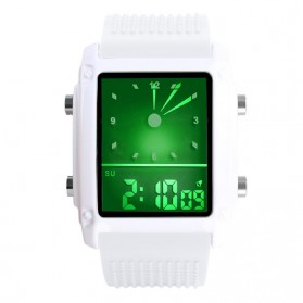 SKMEI Jam Tangan Trendy Digital Analog Pria - 0814G - White