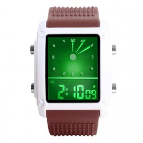SKMEI Jam Tangan Trendy Digital Analog Pria - 0814G - Coffee