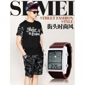 SKMEI Jam Tangan Trendy Digital Analog Pria - 0814G - Coffee - 7
