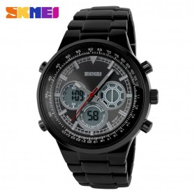 SKMEI Casio Men Sport LED Watch Water Resistant 50m - AD1031 - Black