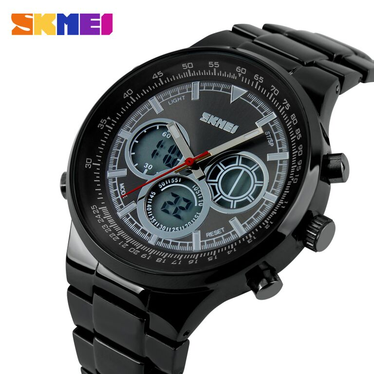 ... SKMEI Casio Men Sport LED Watch Water Resistant 50m - AD1031 - Black - 3 ...