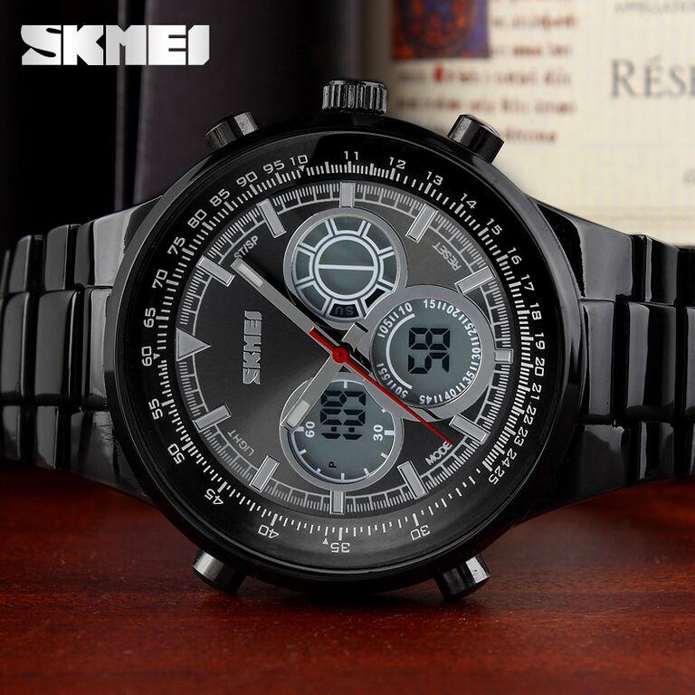 SKMEI Casio Men Sport LED Watch Water Resistant 50m - AD1031 - Black - 9 .