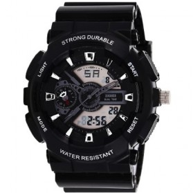 SKMEI S-Shock Sport LED Watch Water Resistant 30m - AD0929 - Black