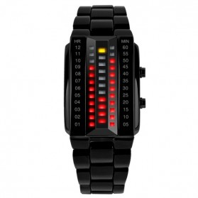 SKMEI Jam Tangan LED Pria - 1035A - Black