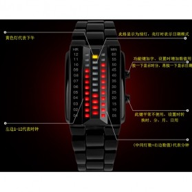 SKMEI Jam Tangan LED Pria - 1035A - Black - 2