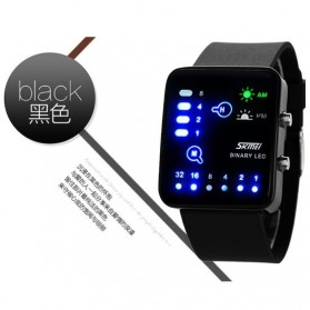SKMEI Jam Tangan LED - 0890C - Black