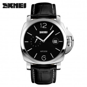 SKMEI Jam Tangan Analog Pria - 1124CL - Black White