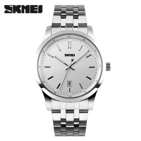 SKMEI Casual Men Stainless Strap Watch Water Resistant 30m - 1125CS - Silver