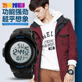SKMEI Jam Tangan Digital Pria - DG1127 - Black Blue - 7