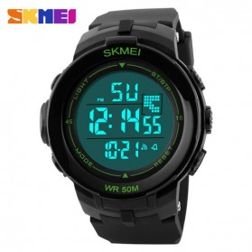 SKMEI Jam Tangan Digital Pria - DG1127 - Black/Green - 1