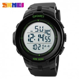 SKMEI Jam Tangan Digital Pria - DG1127 - Black/Green - 2