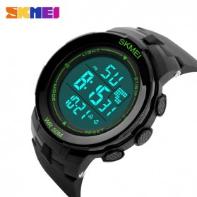 SKMEI Jam Tangan Digital Pria - DG1127 - Black/Green - 3