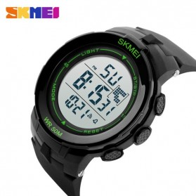 SKMEI Jam Tangan Digital Pria - DG1127 - Black/Green - 4