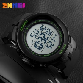 SKMEI Jam Tangan Digital Pria - DG1127 - Black/Green - 5