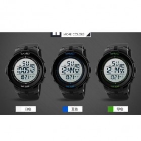 SKMEI Jam Tangan Digital Pria - DG1127 - Black/Green - 9