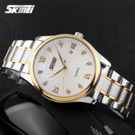 SKMEI Jam Tangan Analog Pria - 9101CS - White - 5