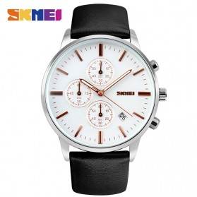 SKMEI Jam Tangan Analog Pria - 9103CL - Black White