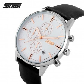 SKMEI Jam Tangan Analog Pria - 9103CL - Black White - 2