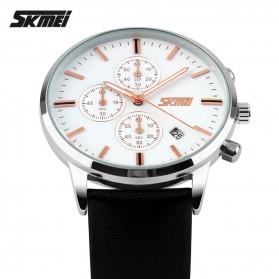 SKMEI Jam Tangan Analog Pria - 9103CL - Black White - 3