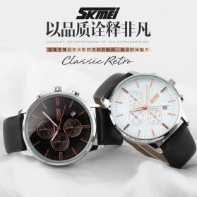 SKMEI Jam Tangan Analog Pria - 9103CL - Black White - 8