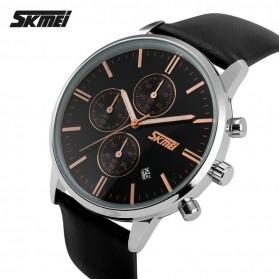 SKMEI Jam Tangan Analog Pria - 9103CL - Black/Black - 2