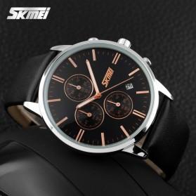 SKMEI Jam Tangan Analog Pria - 9103CL - Black/Black - 5