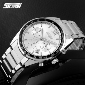 SKMEI Jam Tangan Analog Pria - 9096CS - White - 4