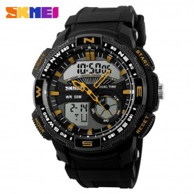 SKMEI Casio Men Sport LED Watch Water Resistant 50m - AD1109 - Black/Yellow