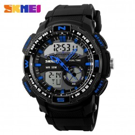 SKMEI Casio Men Sport LED Watch Water Resistant 50m - AD1109 - Black/Blue
