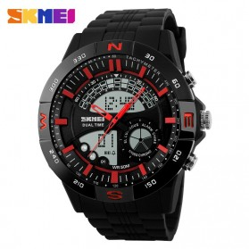 SKMEI Jam Tangan Analog Digital Pria - AD1110 - Black/Red