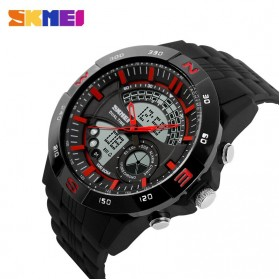 SKMEI Jam Tangan Analog Digital Pria - AD1110 - Black/Red - 3