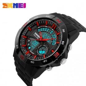 SKMEI Jam Tangan Analog Digital Pria - AD1110 - Black/Red - 4