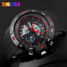 SKMEI Jam Tangan Analog Digital Pria - AD1110 - Black/Red - 6